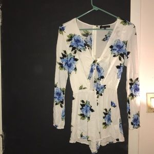 Kandall and Kylie Floral Romper